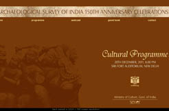 Archaeological Survey of India 150th Anniversary Celebrations - 20 December 2011 at 6.00 pm, Siri Fort Auditorium, New Delhi -  20 December 2011. 6.30 pm
